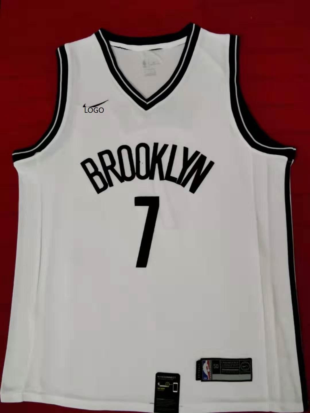 buy popular 2d05f a4435 2019/20 Adult Brooklyn Nets 7 durant white basketball jersey