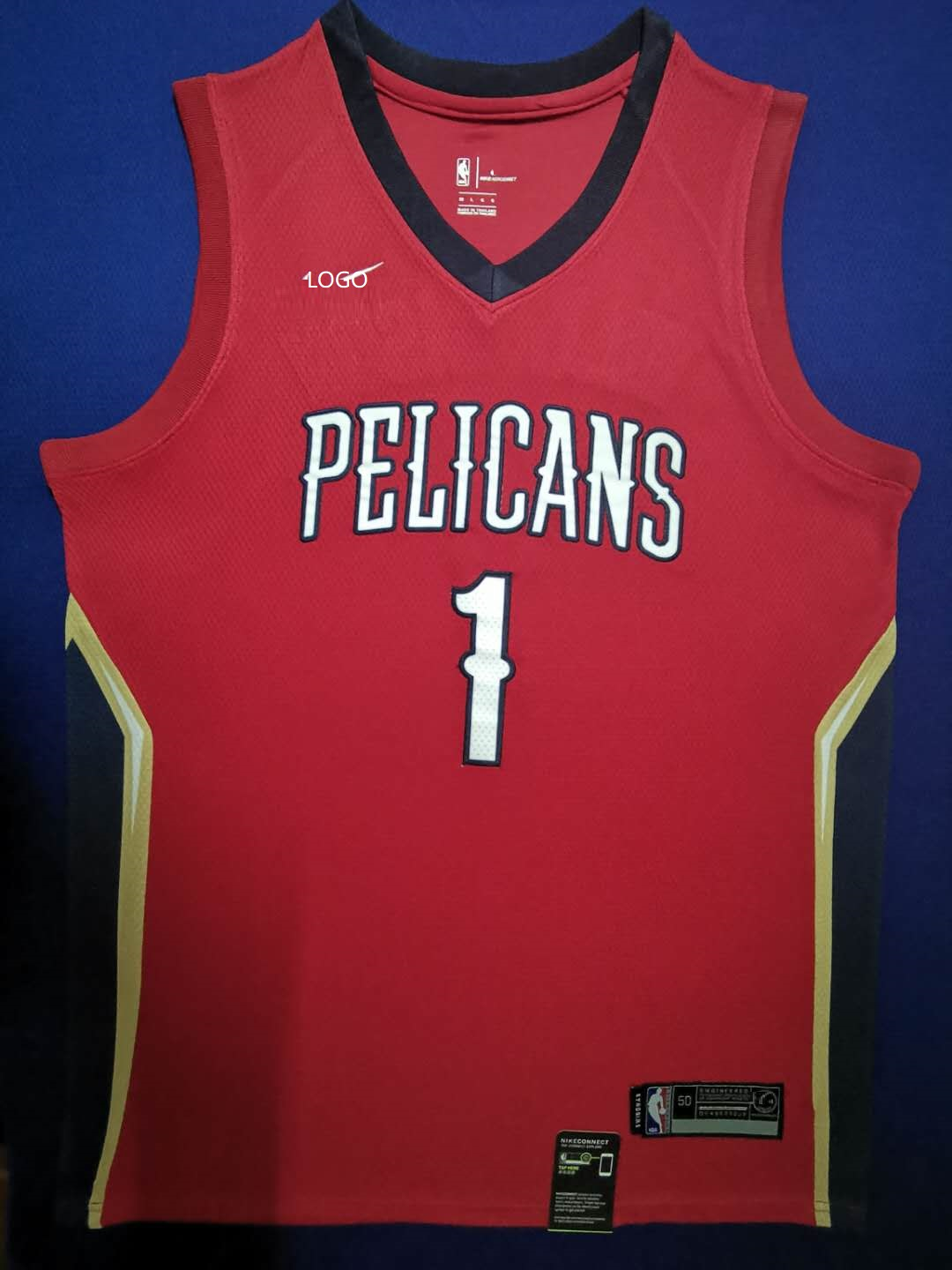 2019/20 Adult New Orleans Pelicans willamson 1 red basketball jersey