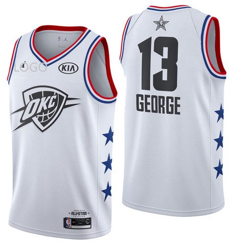 check out 85af9 8dcd4 2019/20 Adult All-Star Rookie Jersey Oklahoma City Thunder GEORGE 13 white  basketball shirt