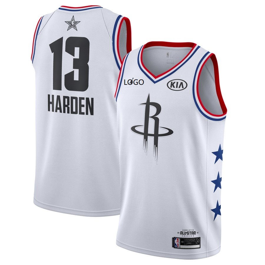 competitive price b0614 9cacd 2019/20 Adult All-Star Rookie Jersey Houston Rockets HARDEN 13 white  basketball shirt