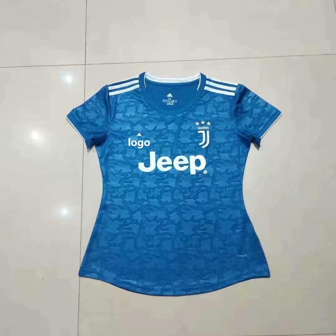 new concept 3ffa3 d8bf3 19-20 FAN VERSION Women Juventus 2nd away soccer jersey football shirt