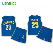 Lenrick Kid's Cleveland Cavaliers LeBron James Basketball Jersey Uniforms Children Kits