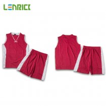 Lenrick Kids Basketball Jersey Dark Red Uniform Kits