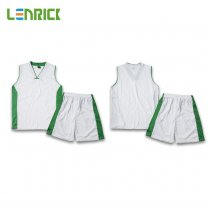 Lenrick Adult NBA Basketball Jersey Uniform White Youth Basketball Tracksuit Sets Shirt+Short