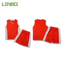 Lenrick Kids Basketball Jersey Orange Uniform Kits Sport Tracksuit