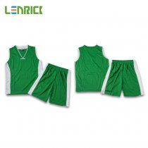 Lenrick Kids Basketball Jersey Sets Green