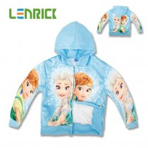 Lenrick Frozen Elsa Anna olaf children outerwear kids girls hoodies wholesale