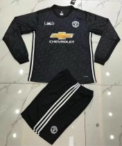 Manchester United Black Away Long Sleeve Jersey Uniforms