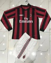 AC MILAN HOME Long Sleeve Jersey Uniforms