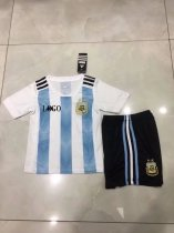 Kids 2018 Russia World Cup Argentina Home Jersey Uniform Custom Name And Number