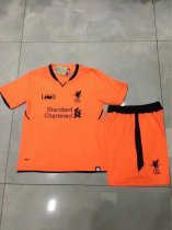 17/18 Kids Liverpool Orange Third Away Soccer Jersey Uniform Children Soccer Jersey Kits