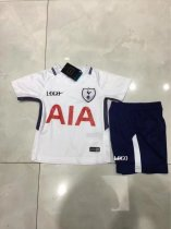 17/18 Children Tottenham Hotspur HOME Soccer Jersey Uniforms Kids Soccer Team Uniforms Wholesale Custom Name Number