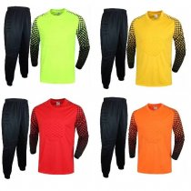 Adult Soccer Goalie Uniform Men Football Goalkeeper Long Sleeve Shirt+Long Pant Custom Name And Number