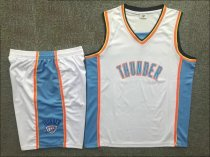Men's Oklahoma City  Team Sets  White Replica Jersey Uniforms Custom Name Number Adult Basketball Kits