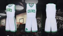 Men's Boston Celtics Kyrie Irving  White Fast Break Jersey Uniforms Adult Basketball Team Kits
