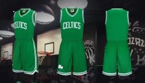 Adult  Boston Celtics Uniforms Kyrie Irving  Green  Jersey Kits  Men Basketball Team Sets