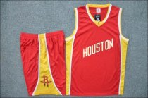 Men's Houston Rockets  Red  Custom Name Number Jersey Kits Adult Basketball Uniforms