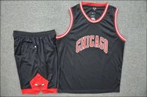 Adult Chicago Bulls Black Jersey Uniforms Men Cheap Basketball Kits Man Sport Team Sets