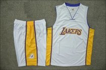 Men's Los Angeles Lakers White Jersey Uniforms Adult Cheap Basketball Kits Design Name Number