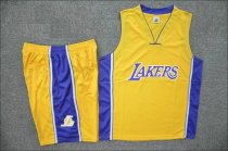 Adult Los Angeles Lakers Yellow Jersey Uniforms Men Cheap Basketball Team Kits Custom Name Number