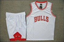 Men's Chicago Bulls White Home Jersey Uniforms Adult Cheap Basketball Sets Make Your Own Name or Number