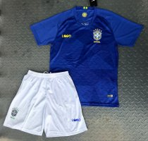 2018 Adult Brazil Away Soccer Jersey Men Football Uniforms Russia World Cup Soccer Kits