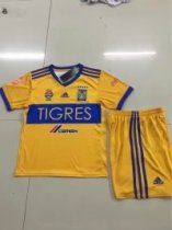 2017/18  Tigres Home Jersey Yellow Adult Soccer Kits Men Football Uniforms