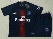 18/19 Adult Cheap PSG Home Soccer Jersey Uniform  Men  Football Kits Custom Name And number Kits