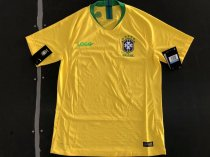 2018/19 Brazil Home Yellow Player Version Soccer Jersey
