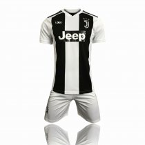 2018/19 Kids Juventus Home Soccer Uniforms Children Football Kits