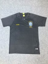 18-19 Brazilian Black Goalkeeper Soccer Jersey -Thai Quality