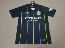 18-19 Manchester City Away Blue Soccer Jersey -Thai Quality