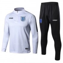2018/19 Men England White Soccer Tracksuit Adult Football Training Suit