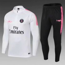 2018/19 Men PSG White Soccer Tracksuit Adult Football Training Suit