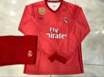 18/19 Adult Red Real Madrid Long Sleeve Soccer Jerseys Winter Paris Sport Training Football Uniforms