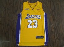 Men Lebron 23 Laker Basketball Jersey
