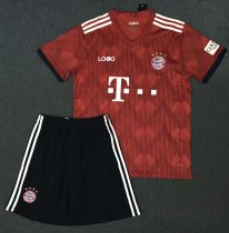 18/19 A Quality Adult Bayern Munich Home Red Jersey Uniform  Man Cheapest Football Complete Uniform Shirt +Short