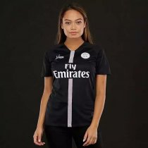 18  Women PSG Black Soccer Shirt Adult Football Jersey Fan Version