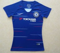 18/19 Women Chelsea Home Blue Fan Version Soccer Jersey