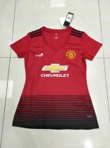 2018/19 Women Thailand Manchester United Red Soccer Jersey Shirt