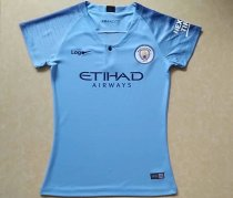 18/19 Women Manchester City Blue Home Jersey Soccer Shirt