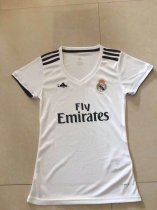 18/19 Women Thai Real Madrid Fan Version White Soccer Jersey