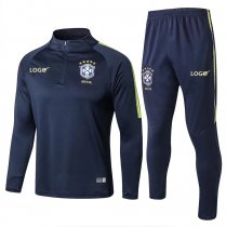Adult Brazil Soccer Royal Blue Men Tracksuit Slim Fit-2018 World Cup