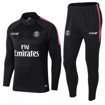 2018/19 Men PSG Black Soccer Tracksuit Paris Saint Germain Adult Black Soccer Football Training Suit