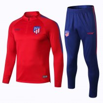 2018/19 Men Atletico Madrid Red Tracksuit Soccer Training Suit Adult Football Sport Wear