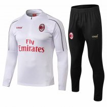 2018/19 Men AC Milan White Tracksuit Training Jackets and Pants Sets