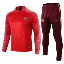 2018/19 Men Barcelona Red Tracksuit Sets Adult Training Football Suits