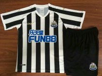 18/19 Kids Newcastle United Home Black And White Soccer Uniforms Kits
