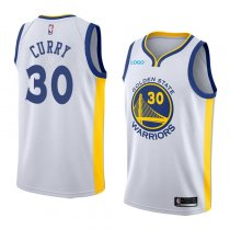 stephen curry 2018 Warriors jersey white 30 GOLDEN STATE