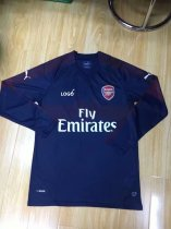 2018/2019 Men Arsenal Away Navy Blue Long Sleeve Soccer Jerseys